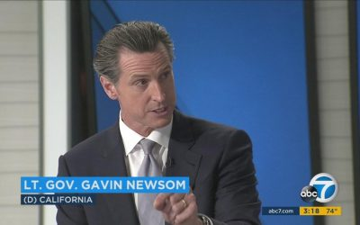 Gavin Newsom would run California as a 'positive alternative to Trump'