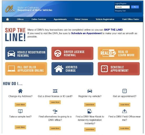 DMV Improves Website